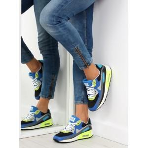 Športové topánky pre dámy v modrej farbe na platforme