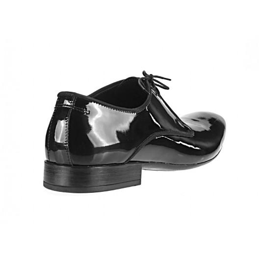 Pánske kožené spoločenské topánky čierne 529