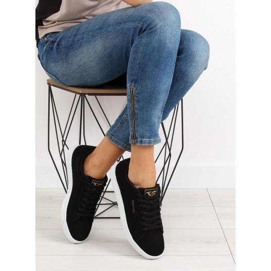 Dámske športové botasky v čiernej farbe na leto