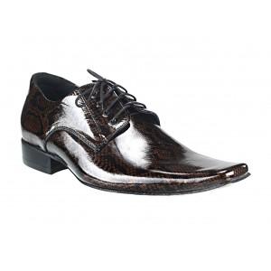 Pánske kožené spoločenské topánky hnedo-čierne