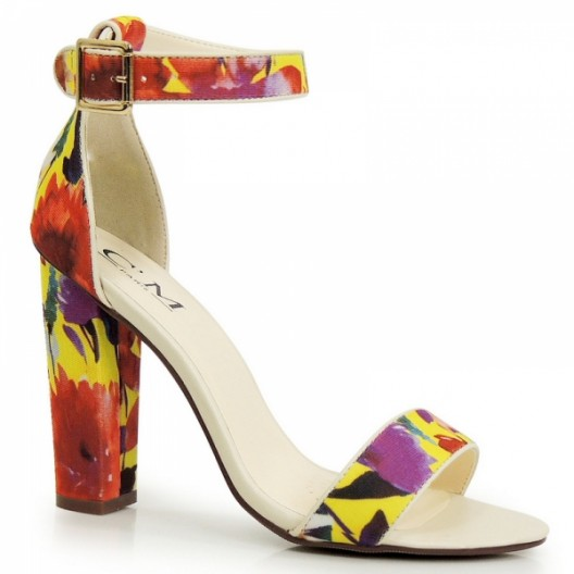 Dámske letné sandále v kvetinovom motíve