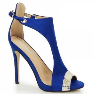 Elegantné dámske sandále na leto v modrej farbe