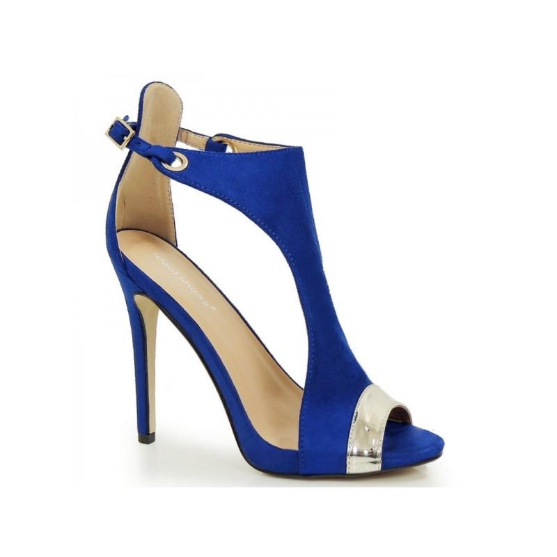 b4769f4d2d Elegantné dámske sandále na leto v modrej farbe