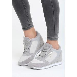 Členkové topánky sivej farby so zipsom