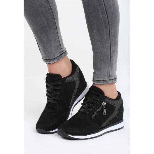Dámske topánky na šnúrovanie s bielou podrážkou