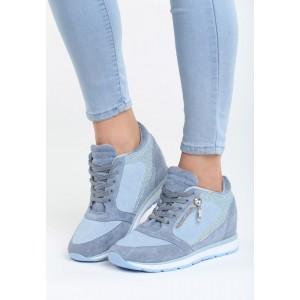 Dámska obuv modrá na hrubšej podrážke