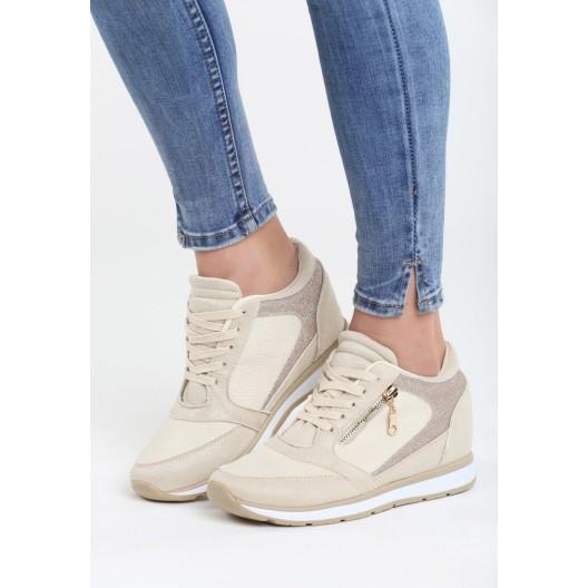 Topánky na platforme v béžovej farbe