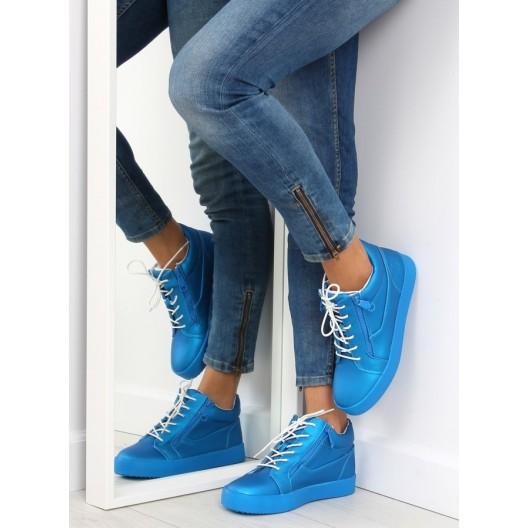 Dámske členkové tenisky v modrej farbe