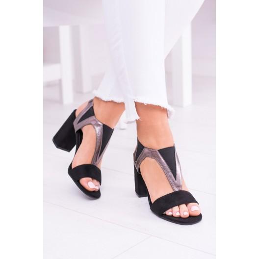 Sandále dámske s lesklým povrchom