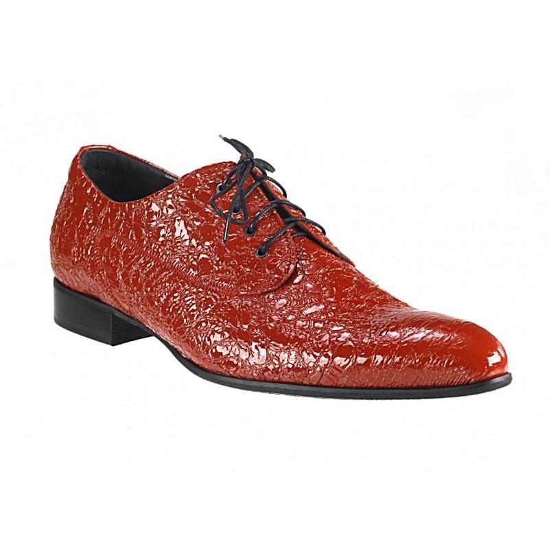 47e5a47f234e Pánske kožené spoločenské topánky červené - fashionday.eu