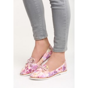 Dámske topánky na jar s mašličkou a kvetmi