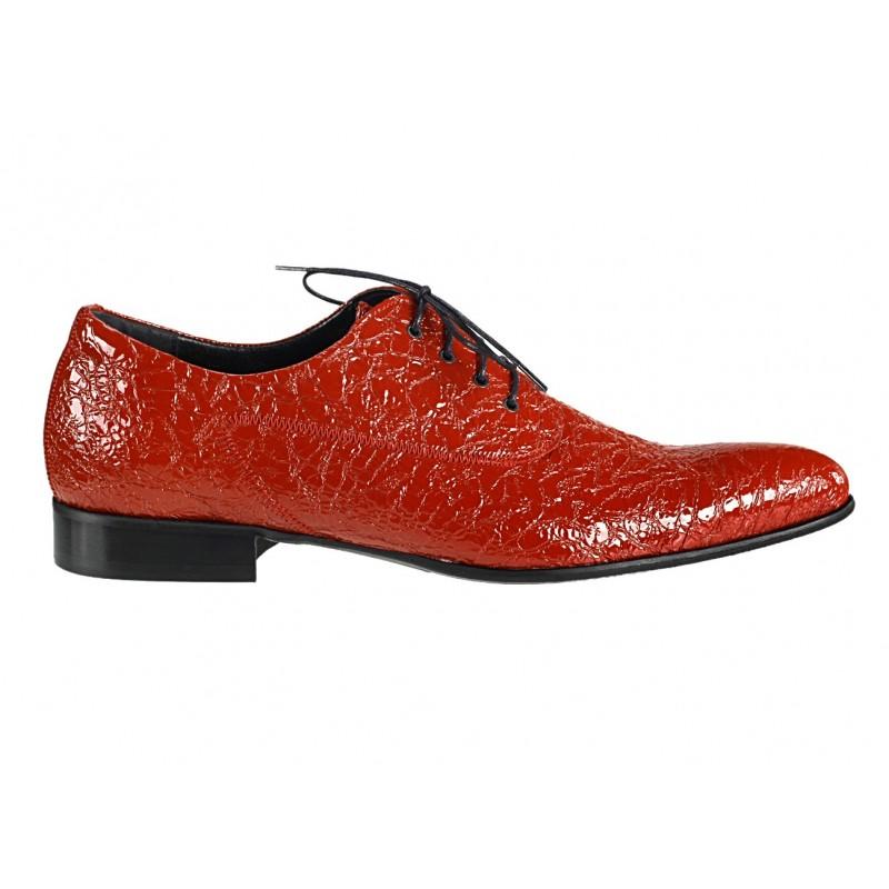 07d6d4aed2db Pánske kožené spoločenské topánky červené 469  Pánske kožené spoločenské ...