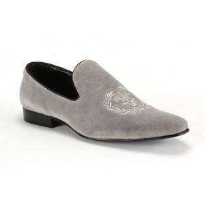 Pánske kožené mokasíny COMODO E SANO v sivej farbe | Fashionday.eu