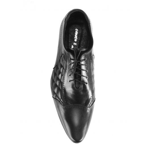 Pánske kožené spoločenské topánky čierne 463