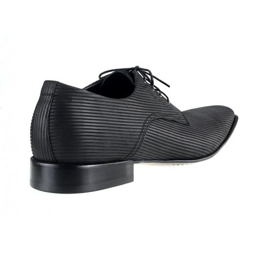 Pánske kožené spoločenské topánky čierne 461