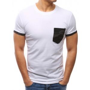 Jednofarebné tričká pre pánov s maskáčovým vreckom