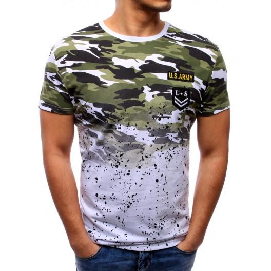 Moderné pánske tričká s maskáčovým vzorom