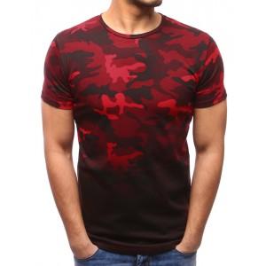 Krátke trička pánske s ARMY vzorom červenej farby