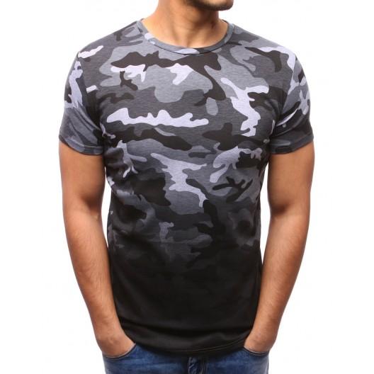 Pánske tričká s krátkym rukávom v sivej farbe