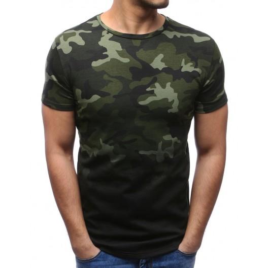 Pánske tričká s ARMY potlačou v zelenej farbe