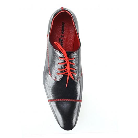 Pánske kožené spoločenské topánky čierne 444