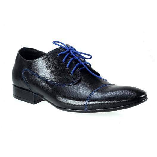 Pánske kožené spoločenské topánky čierne 439