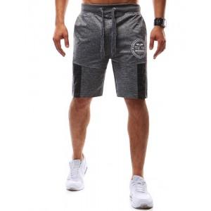 Kraťasy športové s vreckami a potlačou pre pánov