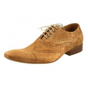Pánske kožené spoločenské topánky svetlohnedé