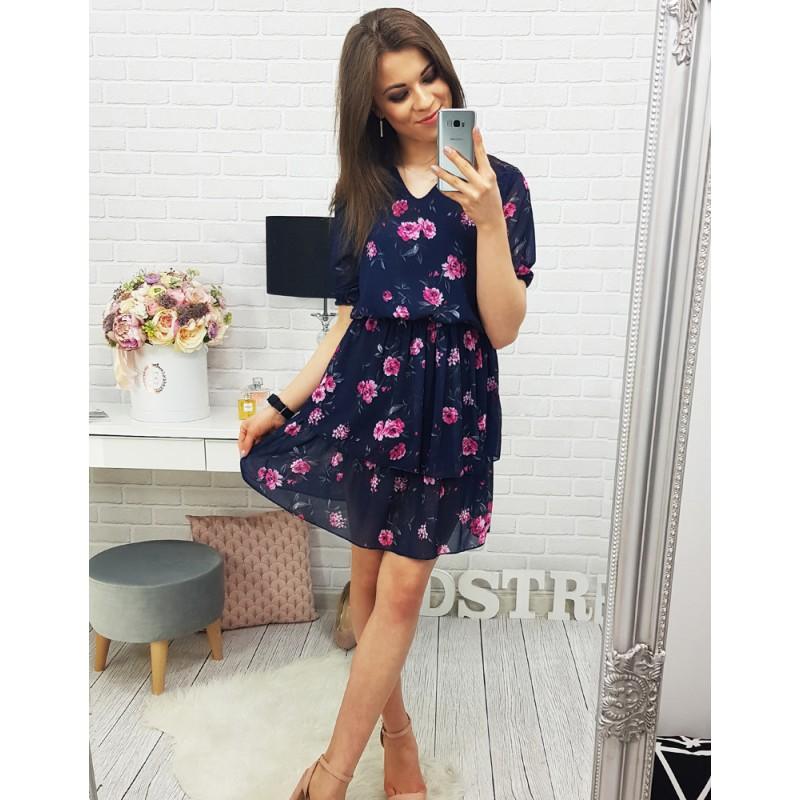 f83d2e593 Dámske šaty na leto s kvetmi a krátkym rukávom| Fashionday.eu
