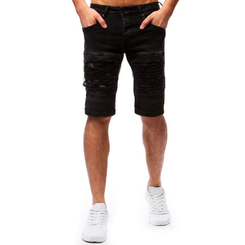 d06a83d056592 Krátke pánske nohavice na leto v čiernej farbe so vzorom| Fashionday.eu