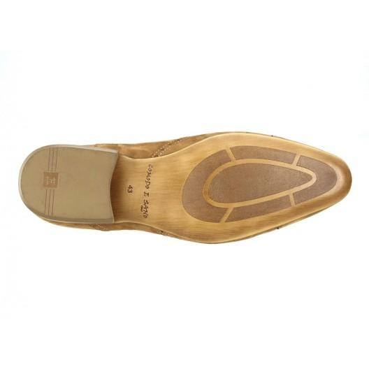 Pánske kožené spoločenské topánky svetlohnedé ID: 250