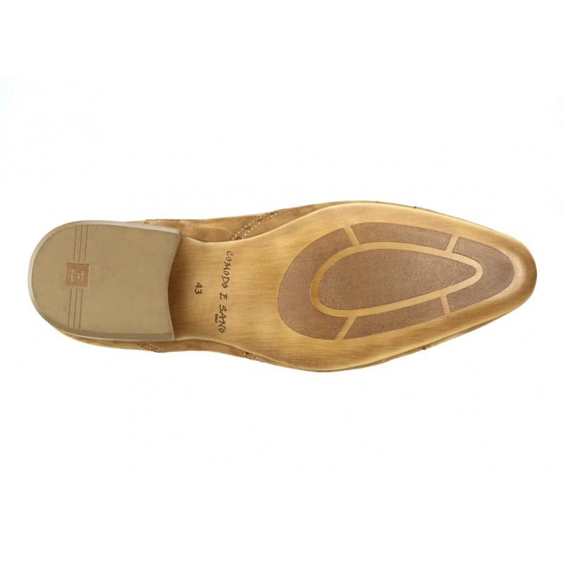 Pánske kožené spoločenské topánky svetlohnedé 20f0bb7cdb5