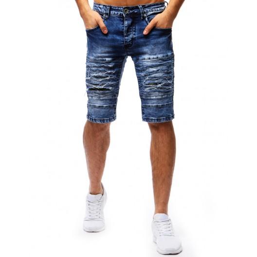 Krátke rifľové nohavice pánske s vreckami