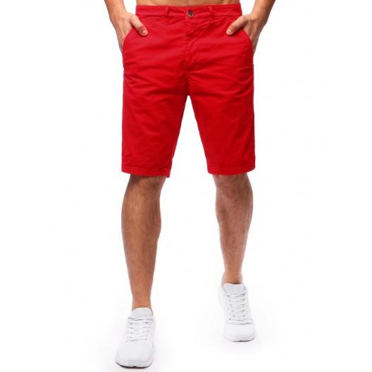 Krátke pánske nohavice na leto v červenej farbe