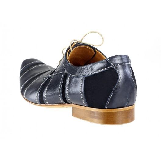 Pánske kožené spoločenské topánky modré ID: 243
