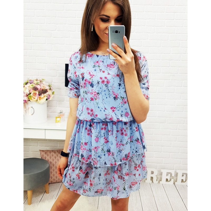 133dd12372cc Predchádzajúci. Elegantné šaty po kolená modrej farby ...
