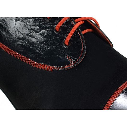 Pánske kožené spoločenské topánky čierne ID: 530