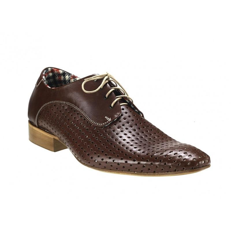945ca0f7cf Pánske kožené spoločenské topánky hnedé - fashionday.eu
