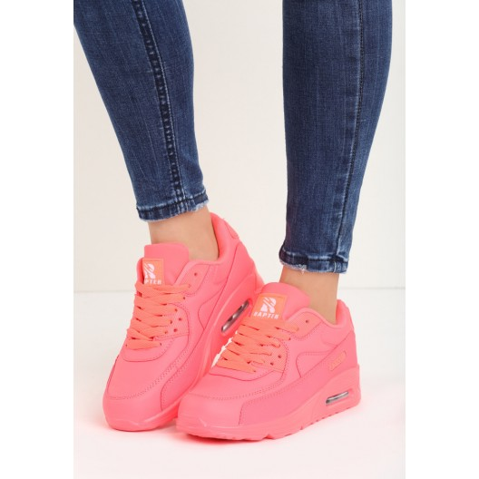 Športová obuv neónovo ružovej farby s hrubou podrážkou