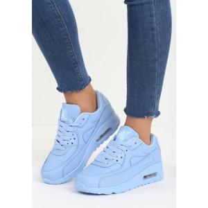 Dámske športové botasky s hrubou podrážkou modré