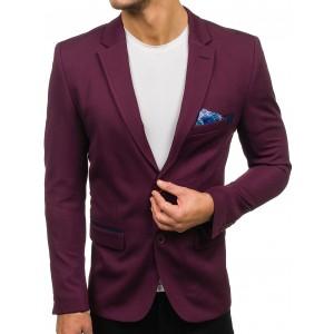 Pánske letné sako slim fit vo fialovej farbe