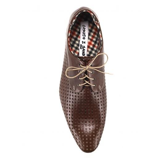 Pánske kožené spoločenské topánky hnedé ID: 527