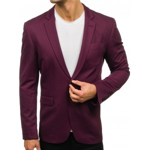 Luxusné pánske sako vo fialovej farbe slim fit