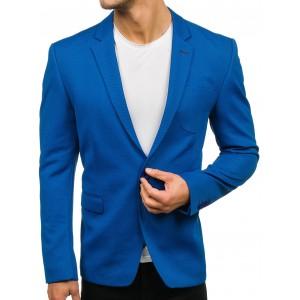 Moderné pánske slim sako svetlo modrej farby