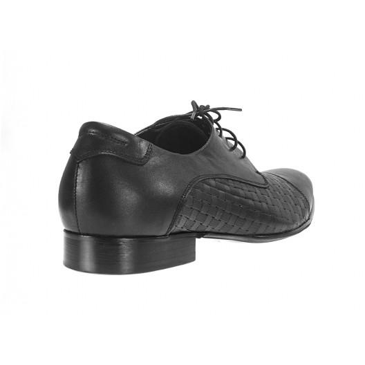 Pánske kožené spoločenské topánky čierne ID: 554