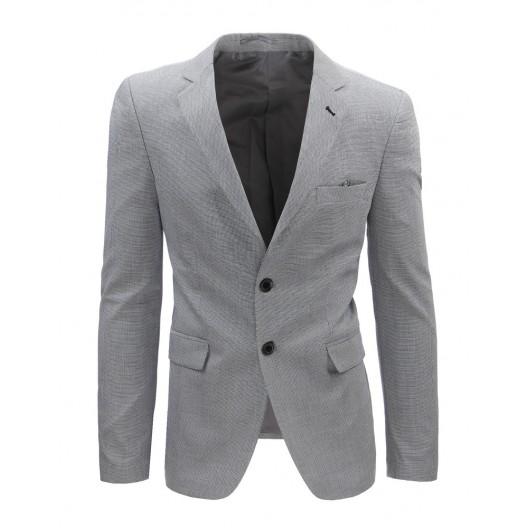 Pánske sako slim v sivej farbe so zapínaním na gombíky
