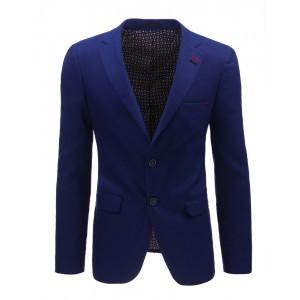 Luxusné pánske saká sýto modrej farby s vreckami