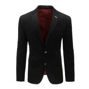 Čierne sako s vreckami a gombíky na každú príležitosť