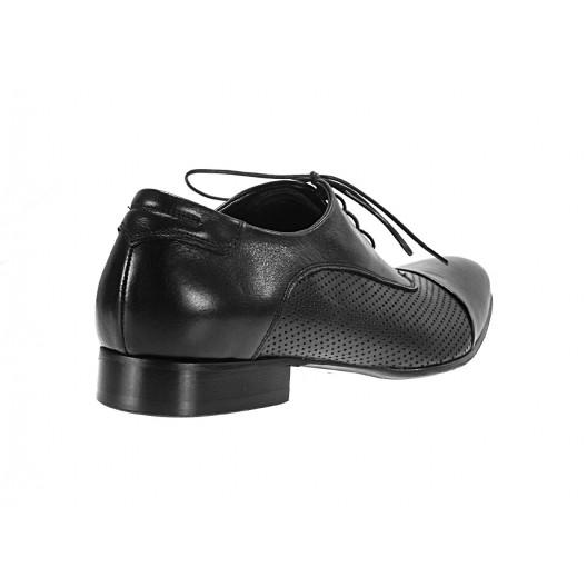 Pánske kožené spoločenské topánky čierne ID: 555