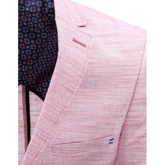 Extravagantné pánske saká ružovej farby na každý deň